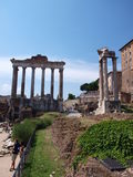 Temples at Forum Romanum, Rome, Italy Stock Photography
