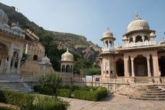 Temples in Gatore Ki Chhatriyan Royalty Free Stock Photos