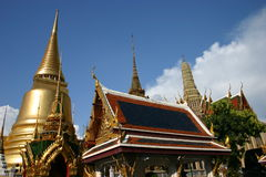 Temples of the Grand Palace. A must visit for anyone looking to experience the Buddhist culture of Thailand Royalty Free Stock Images