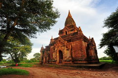 Temples historiques dans Bagan Images stock