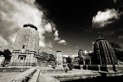Temples of India. Ancient temples of India in classic vintage black and white Stock Image