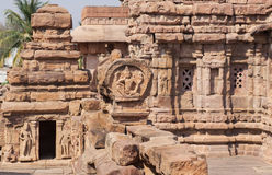 Temples of India. Example of Indian architecture in Pattadakal, UNESCO World Heritage site Stock Photos