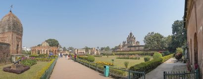 Temples of Kalna, Burdwan. Panoramic image of Temples of Kalna, Burdwan , West Bengal Stock Photos