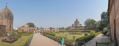 Temples of Kalna, Burdwan. Panoramic image of Temples of Kalna, Burdwan , West Bengal Stock Photos