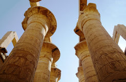 Temples of Karnak (ancient Thebes). Luxor, Egypt Stock Image