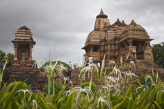 Temples in Khajuraho Royalty Free Stock Photography