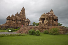 Temples in Khajuraho Royalty Free Stock Images