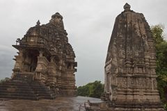 Temples in Khajuraho Stock Photography
