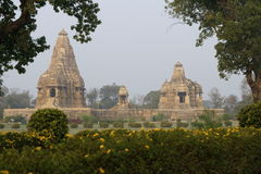 Temples of Khajuraho Stock Photo