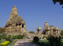 Temples at Khajuraho, India Royalty Free Stock Image