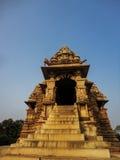 Temples at Khajuraho. In India stock photos