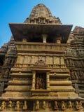 Temples at Khajuraho in India Royalty Free Stock Photo