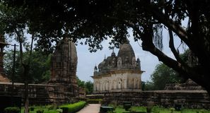 Temples of Khajuraho, India Royalty Free Stock Photography