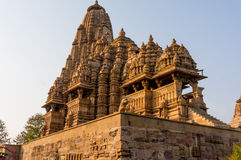 Temples at Khajurao against the sky Royalty Free Stock Image