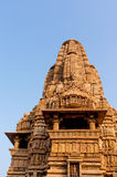 Temples at Khajurao against the sky Royalty Free Stock Photo