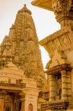 Temples at Khajurao India Stock Photos