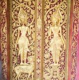 Temples in Luang prabang Stock Photo