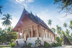 Temples in Luang prabang Royalty Free Stock Photo