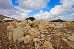 Temples mégalithiques de Malte (grands-angulaires superbes) Photographie stock libre de droits