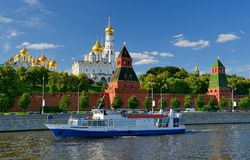 Temples of the Moscow Kremlin Royalty Free Stock Photography