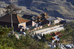 Temples in Mountain Hengshan, Shanxi province, China  Stock Photos