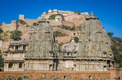 Temples near Kumbhalgarh Fort in Rajasthan, India Stock Image