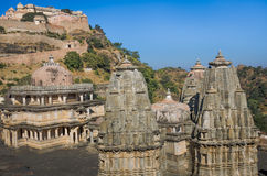 Temples near Kumbhalgarh Fort in Rajasthan, India Royalty Free Stock Photography