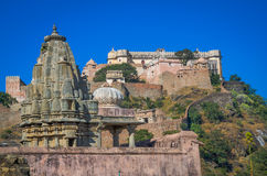 Temples near Kumbhalgarh Fort in Rajasthan, India Stock Photography