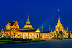 Temples at night Royalty Free Stock Photo
