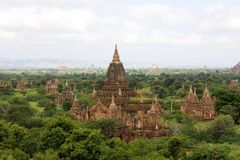 Temples of Old Bagan, Myanmar Royalty Free Stock Image