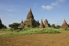 Temples of Old Bagan, Myanmar Royalty Free Stock Photos
