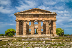 Temples of Paestum Archaeological Site, Campania, Italy Stock Images