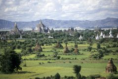 Temples on Pagan plain Stock Photography