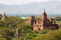The temples and pagodas of Bagan, Myanmar near Mandalay stock image