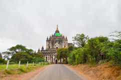 Temples and pagodas in the Bagan plains, Myanmar Stock Photo