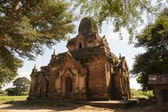 Temples and pagodas of Bagan. View of the archaeological park of the ancient temples and pagodas of Bagan. Myanmar stock photo