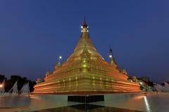 Temples and pagodas in Mandalay at night Royalty Free Stock Images