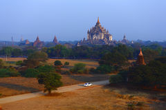 Pagodas in Bagan. The temples and pagodas stood on the plains of Bagan, in Myanmar Burma royalty free stock photos