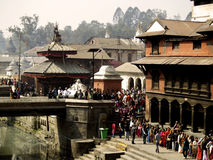 Temples in Pashupatinath Area Stock Photography