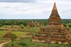 Temples on the plains of Bagan. Myanmar (Burma Royalty Free Stock Image