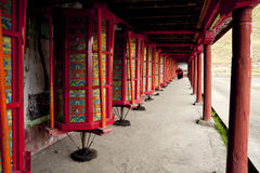 Temples, prayer wheel Royalty Free Stock Photo