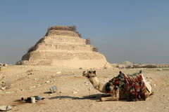 The temples and pyramids of Saqqara in Egypt Royalty Free Stock Photos