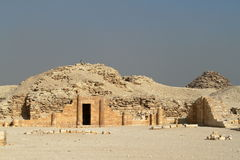 The temples and pyramids of Saqqara in Egypt Stock Photography