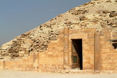 The temples and pyramids of Saqqara in Egypt Stock Image