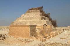 The temples and pyramids of Saqqara in Egypt Royalty Free Stock Photo