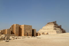 The temples and pyramids of Saqqara in Egypt Stock Images