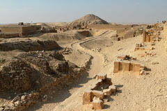 The temples and pyramids of Saqqara in Egypt Stock Photos