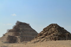 The temples and pyramids of Saqqara in Egypt Royalty Free Stock Images