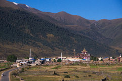 Temples in remote mountains Stock Image
