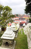Temples and shrines near Pashupatinath Temple, nepal Stock Images
